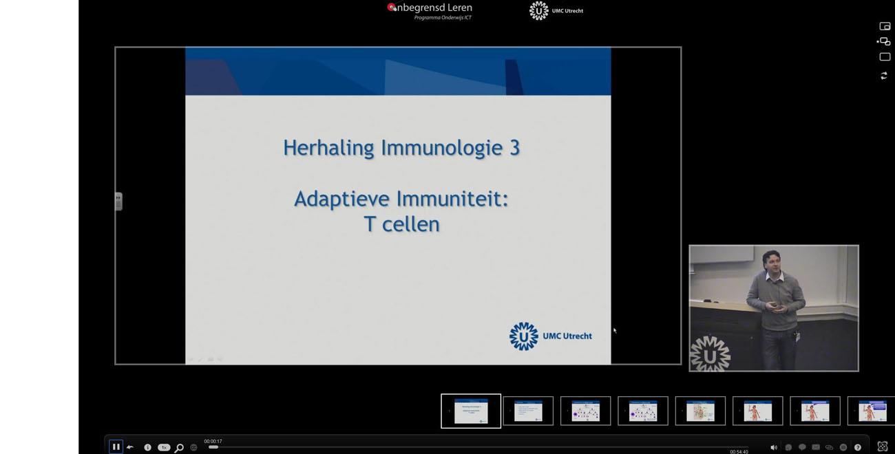 Screenshot van een e-lecture