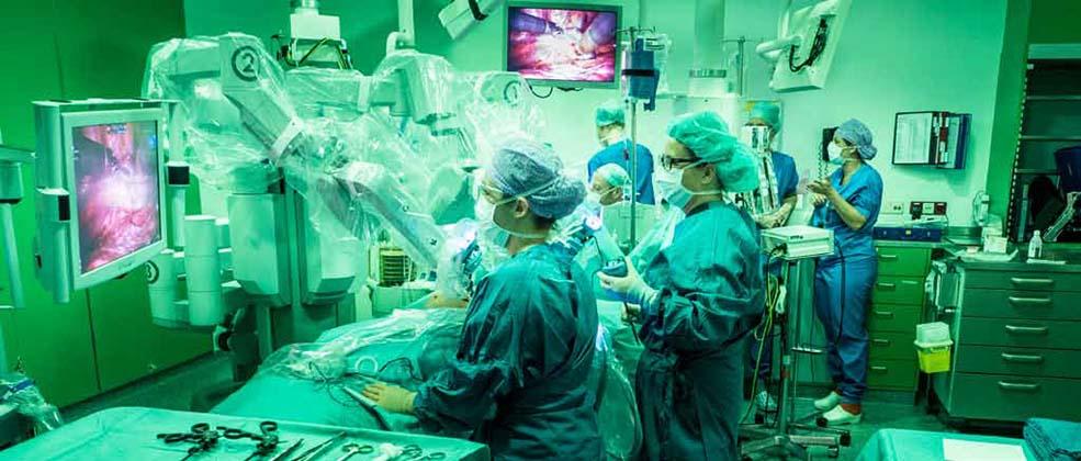 Kijkoperatie via de operatierobot